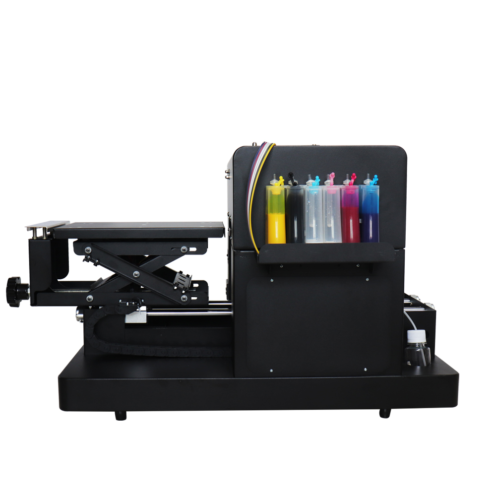Hoge kwaliteit A4 flatbed printer DTG T-shirt printmachine voor EPSON - Office-elektronica - Foto 3