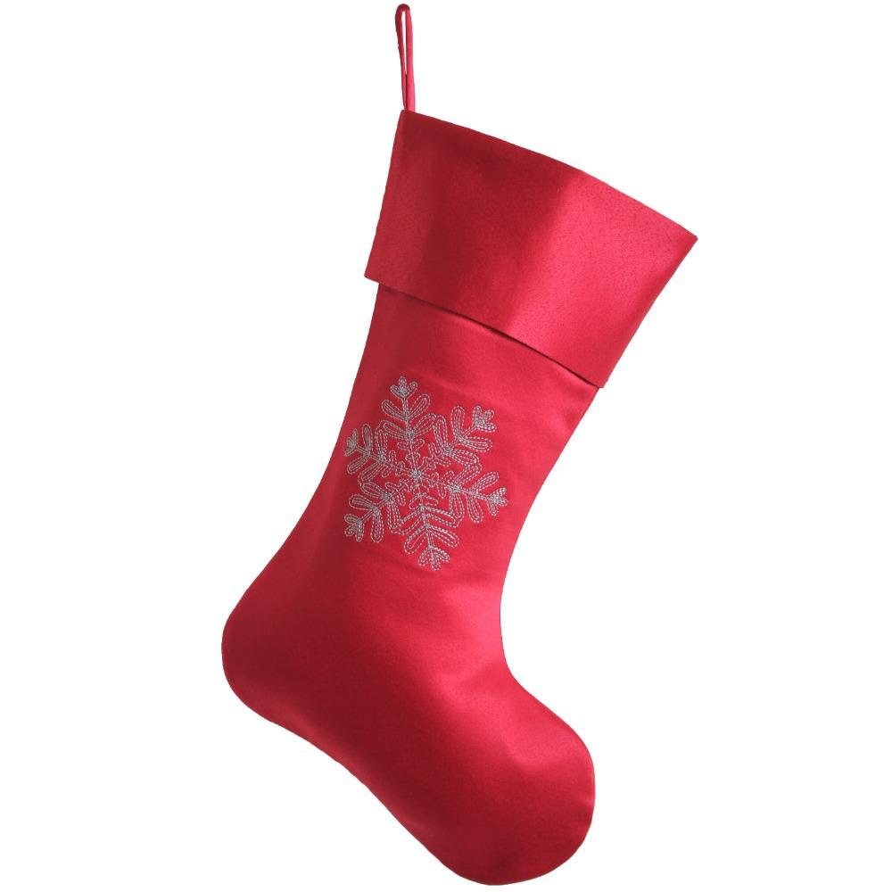 envo gratis nieve bordado calcetn de navidad calcetines de mainland