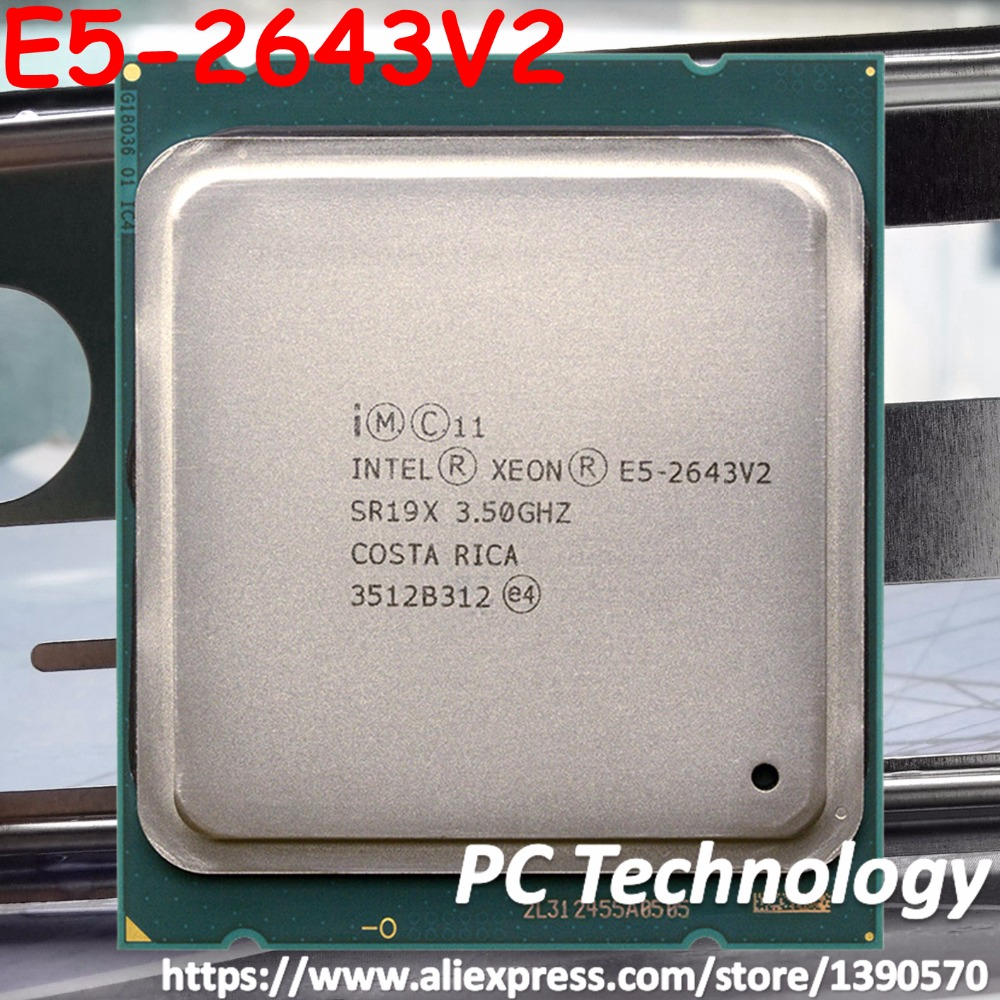 Original Intel Xeon processor E5 2643V2 OEM version not QS CPU 6 cores 3 50GHZ 25MB