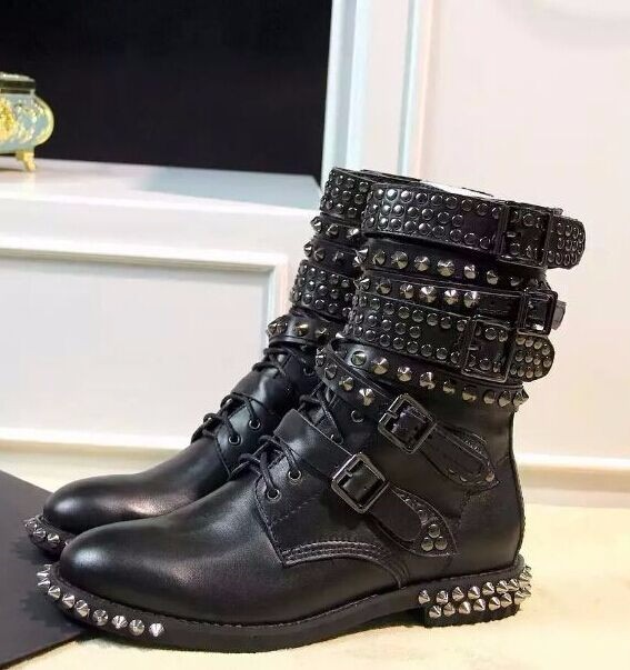 Compare Prices on Studded Combat Boots- Online Shopping/Buy Low ...