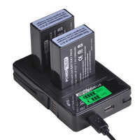 PowerTrust 2X LP-E17 LPE17 LP E17 Battery + LCD USB Charger with Type C Port for Canon EOS M3 M5 M6 Rebel T6i T7i EOS 77D 750D
