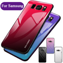 Case on for samsung s8 plus Glass Coque Fundas galaxy samsug s8plus s 8 a10 a20 a30 a50 m10 m20 m30 phone cover cases galaxi 8s(China)