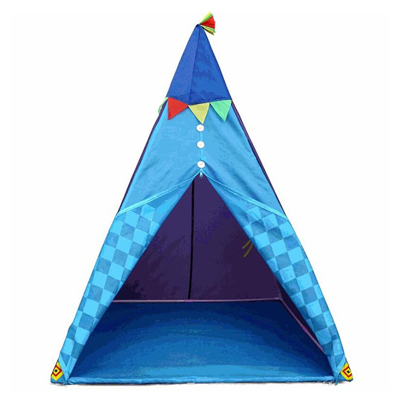 Indian Style Children Tent Toy Teepee Play Tent Portable Playhouse Decoration Tipi Kids Indoor Game Room Outdoor Tourist Playpen