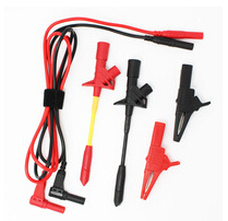 Multimeter test lead set of wires leads test leads alligator clip test probe hook black red