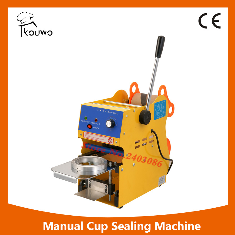 KW-F01 350W Manual 300-500 cups/hr Tea Cup Sealing Machine for Bubble Boba Milk Tea Coffee Smoothies Sealer semi automatic manual plastic cup liquid container sealer 220v boba bubble tea juice drink film coverllid sealing machine