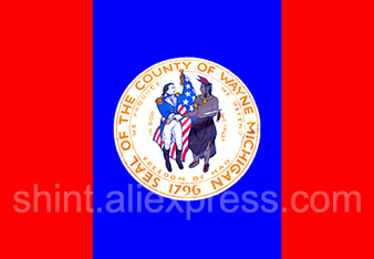 USA Michigan Flag of Wayne County Michigan 3ft x 5ft Polyester Banner Flying 150* 90cm Custom flag outdoor