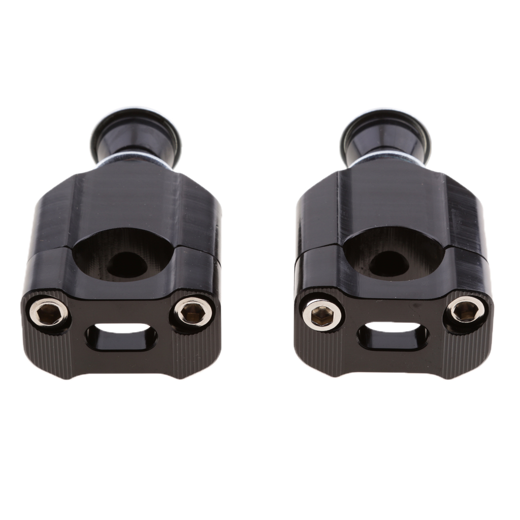 1 Pair CNC Anodized Aluminum Universal Motorcycle Handlebar Mount Clamp Lifter Bar Riser For 1 1/8