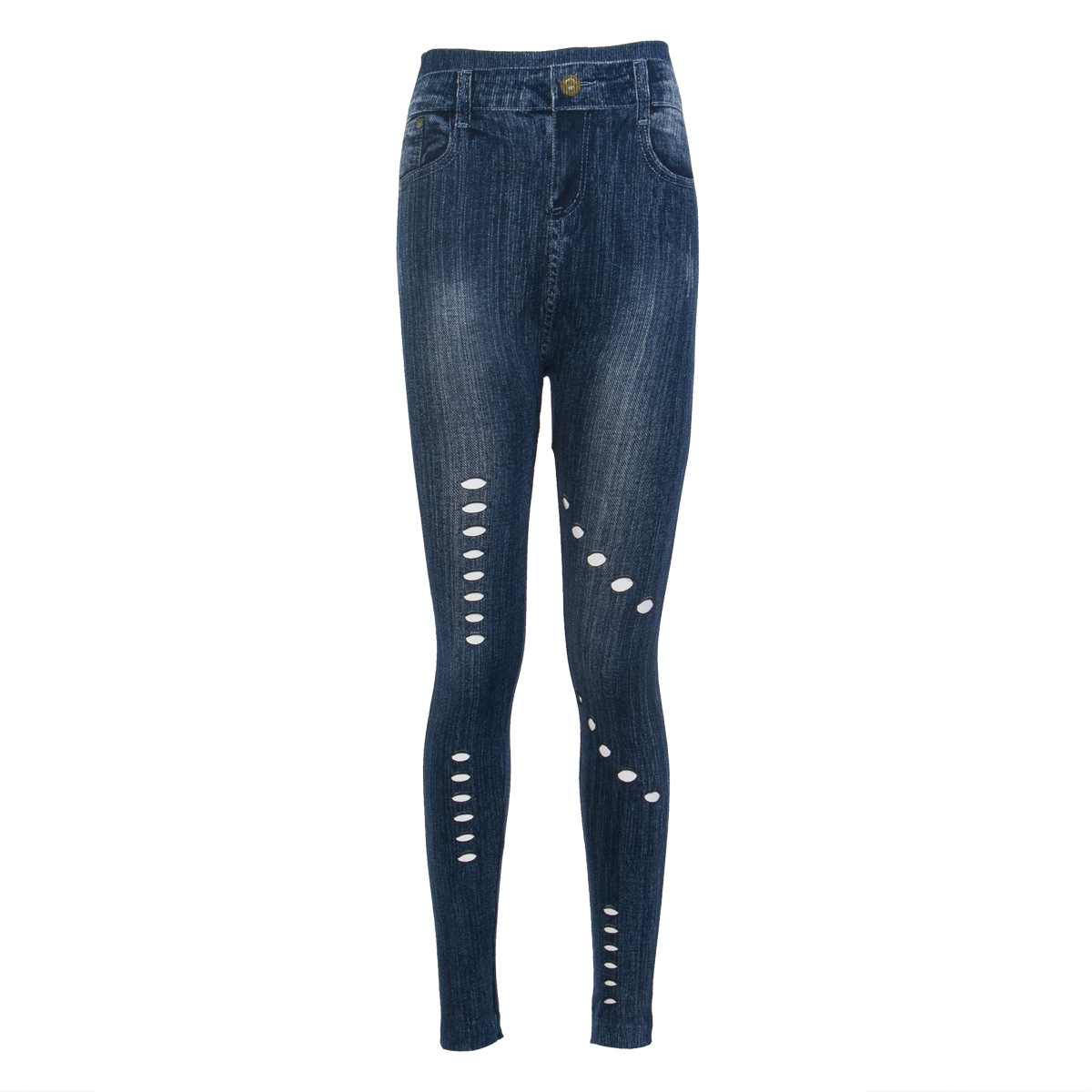 Women Pencil Stretch Casual Denim Skinny Jeans Pants High Waist Jeans Trousers цена и фото