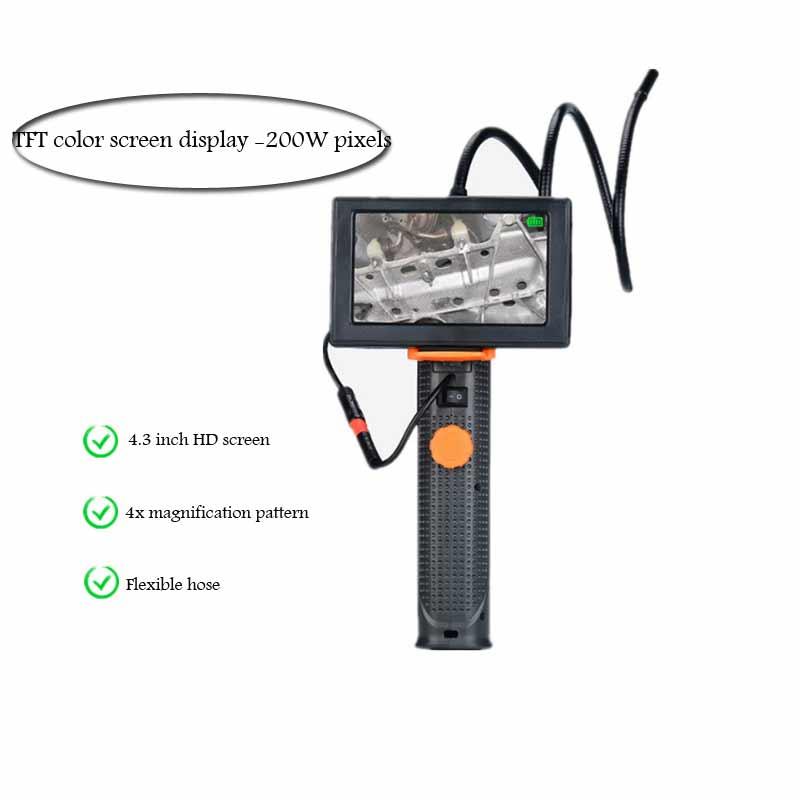 4.3 inch large screen HD endoscope car repair tool pipe repair tool microscope magnifying glass|Borescopes| |  - title=