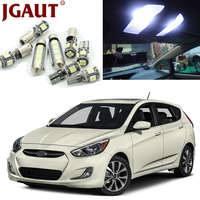 JGAUT White Car LED Light Bulbs Interior Package Kit For 2006 2011 Hyundai Accent Map Dome