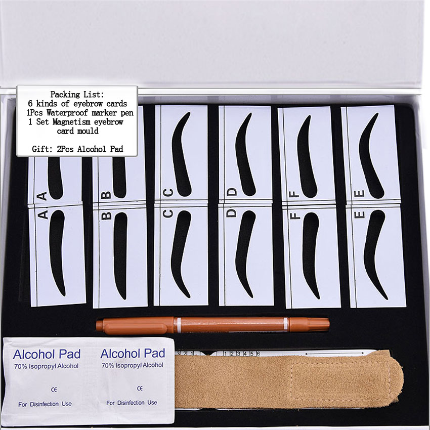 Eyebrow Card Pencil Ruler Kit Magnetism Eyebrow Permanent Makeup Microblading 3D Embroidery Shaping Beauty Tools Tattoo