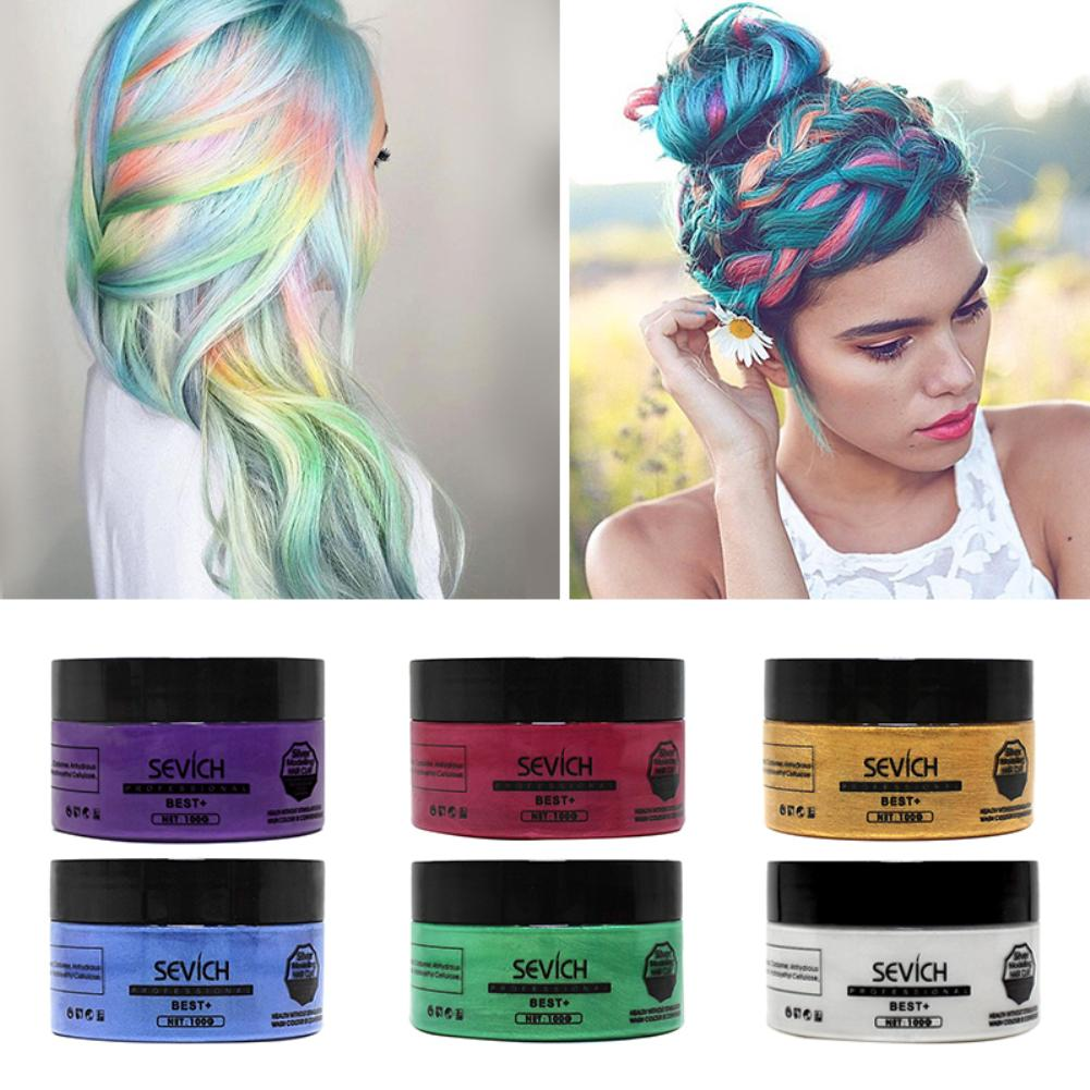 US $5.9 37% OFF|Men Women Fashion 100g Home Fashion Color Styling Cream  Easy Modeling Temporary DIY Hair Dye Wax Beauty-in Hair Color from Beauty &  ...
