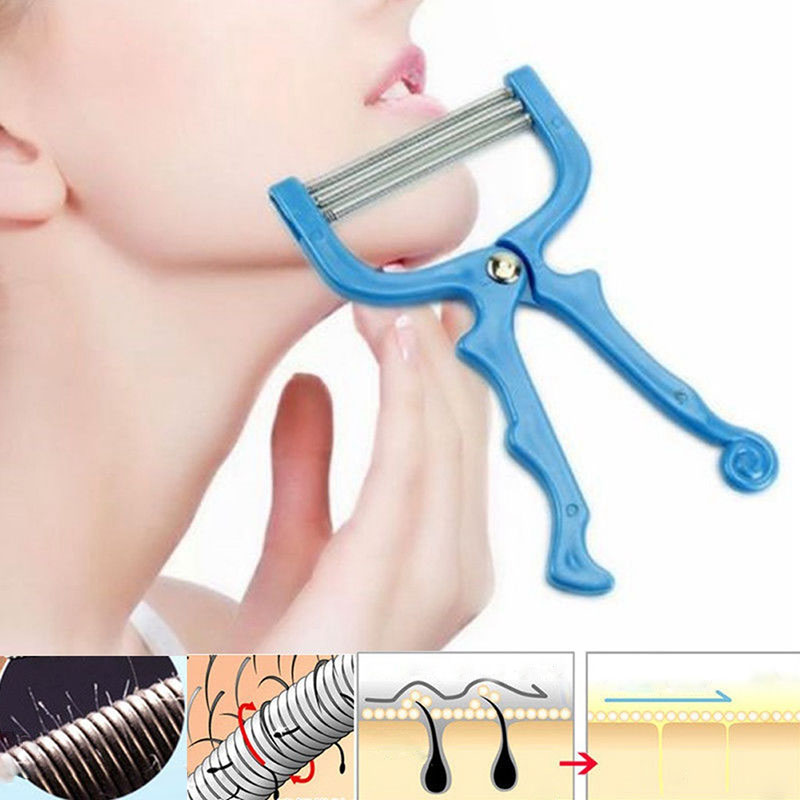 Safe Handheld Face Facial Hair Removal Threading Beauty Epilator Epi Roller Tool