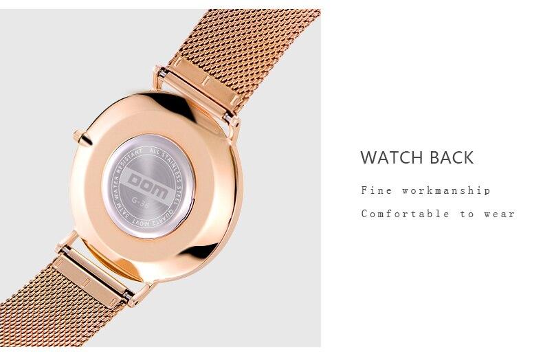 relógio de quartzo casual quartzo-pulseira de malha