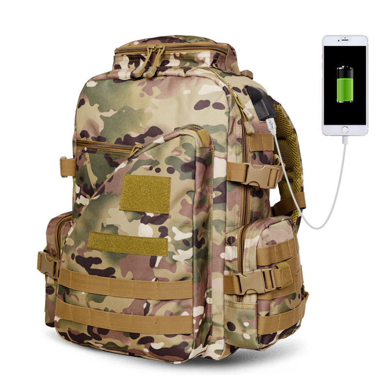 USB Charger Outdoor Tactical Backpack Military bag Army Trekking Sport Travel Rucksack Camping Hiking Trekking Camouflage Bag 3p men women outdoor military army tactical backpack trekking sport travel rucksacks camping hiking trekking camouflage bag