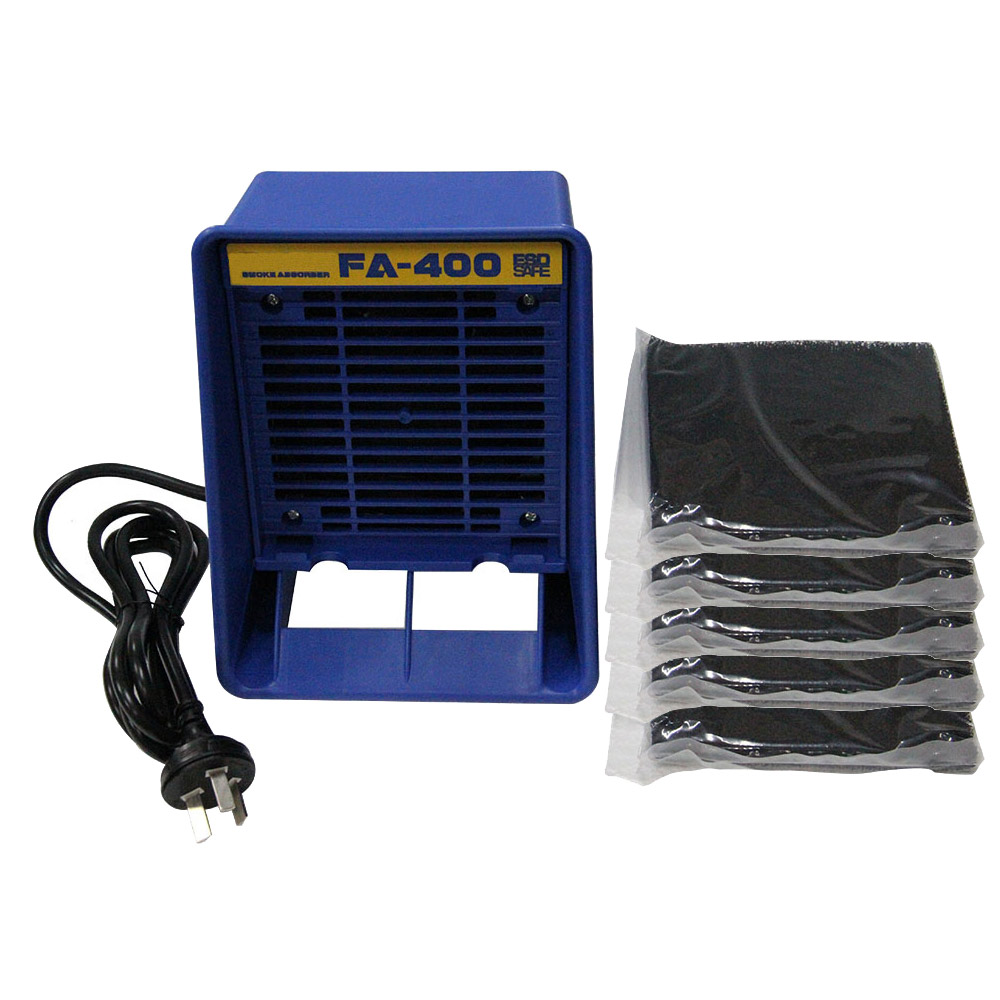 Kern-Öffnungen 110 V 30 W Tragbare Solder Rauch Absorber Esd Fume Extractor Für Löten Eisen Arbeit Löten Rauchen Fan Mit Filter Schwamm Uns