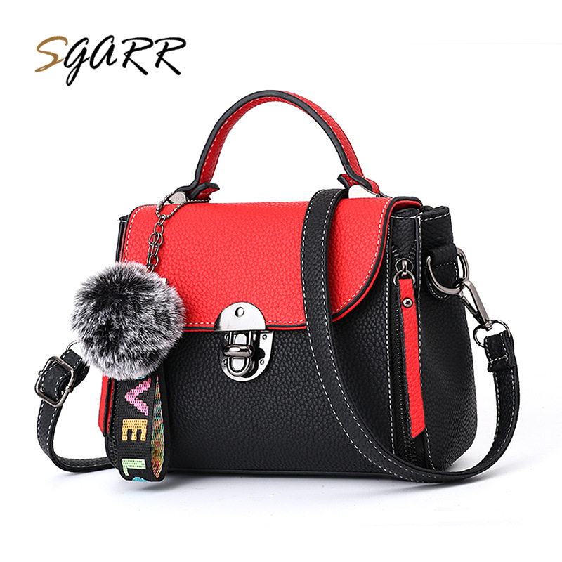 SGARR Fashion Women PU Leather Handbags High Quality Small Panelled Flap Shoulder Bag Famous Brands Female Zipper Crossbody Bag