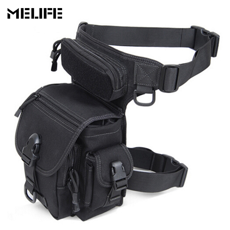 MELIFE Outdoor Sports 1000D Nylon Tactical Leg Bag For Camping Hiking Hunting Military Molle Army Drop Leg Bags Thigh Pouch 1000d nylon molle tactical hunting bags outdoor sport single shoulder bag men outdoor sport camping hiking hunting waist bags