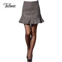 Woolen Ruffle Short Skirt Suit For Spring And Autumn Have 4 Different Sizes