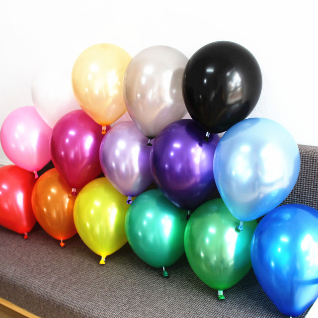 Silver Gold Balloons 20 Pc 12 Inch Pearl Color Latex 32 G Birthday Decorations Party Ballon Decoration Globes Purple