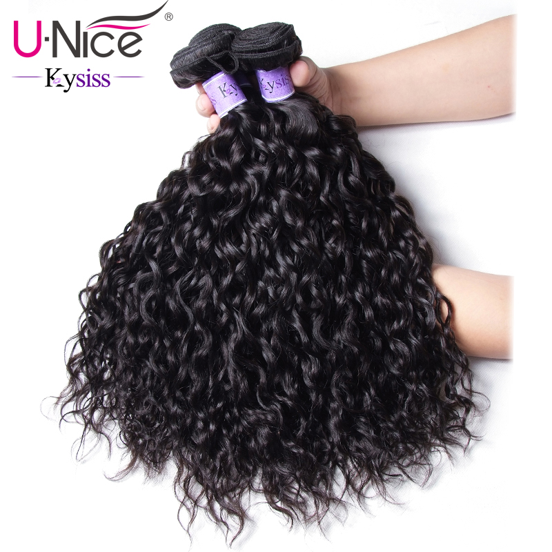 UNice Hair Kysiss Series Malaysian Water Wave 3 Bundles Unprocessed Human Hair Extension 8 26 Malaysian