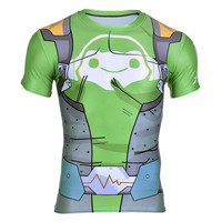 Game OW Lucio DJ Printed 3D T Shirt New Fitness Shirt For Men Bodybuilding Crossfit T
