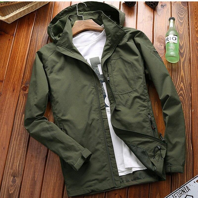 Bombardeiro jaquetas e casacos primavera 2019 nova fina respirável secagem rápida afs jeep marca militare roupas do exército casual