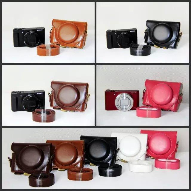 Caméra En Cuir Cas Sac de Poche De Couverture pour SONY cyber-shot DSC-HX90 DSC HX90 WX500 Caméra Couverture