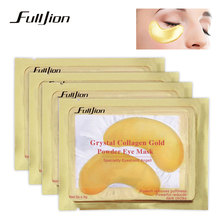 1Pair Beauty Gold powder Crystal Collagen Eye Mask Patch Eye Patches Eye Care Anti-Aging Eliminates Dark Circles And Fine Lines
