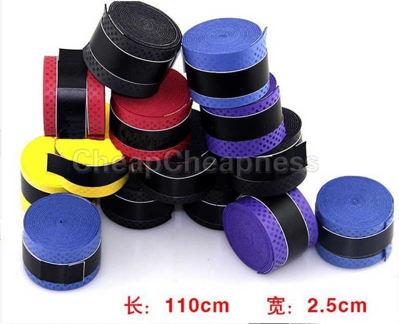 Tennis Badminton Fishing Rods Anti-slip Racket Handle Tape Overgrip Squash Racquet Sweatand multicolour 1PC
