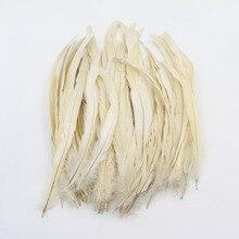 Бежевый Крем с перьями из хвоста петуха украшение для волос перо для рукоделия одежда ювелирные аксессуары/Свадебные вечерние принадлежности