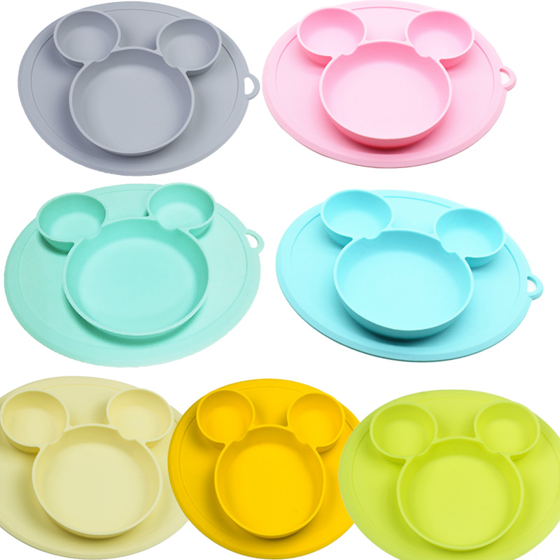 Baby Silicone Plate Kids Bowl Plates Baby Feeding Silicone Bowl Baby Silica Gel Dishes Kids Tableware(China)