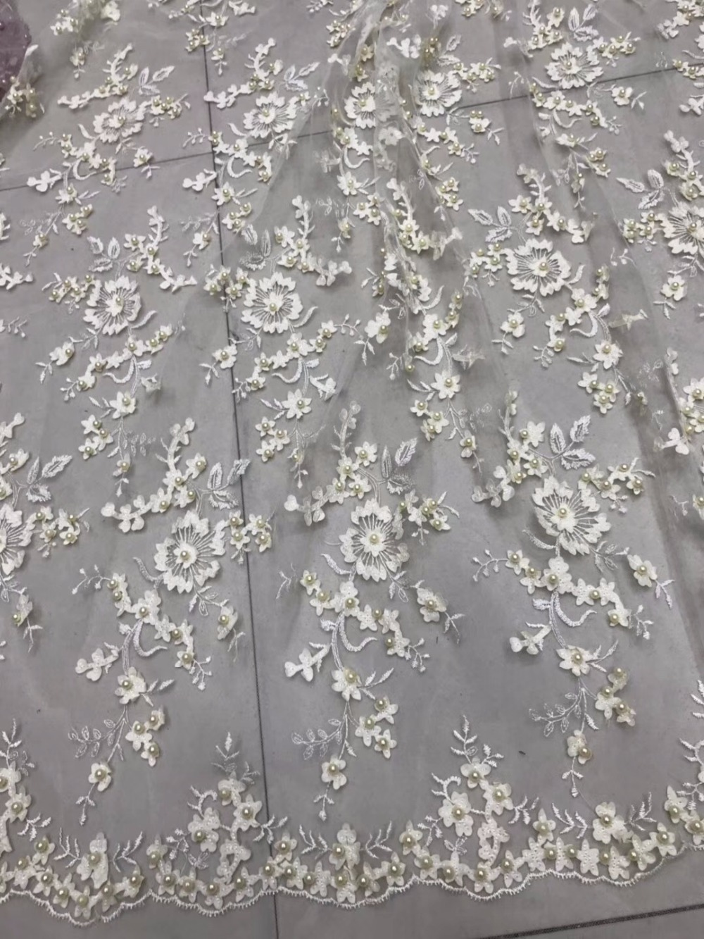 2018 African French Beaded Lace Fabric New beige Color Flower Lace Fabric With beads Embroidery Tulle Net Lace Fabric2018 African French Beaded Lace Fabric New beige Color Flower Lace Fabric With beads Embroidery Tulle Net Lace Fabric