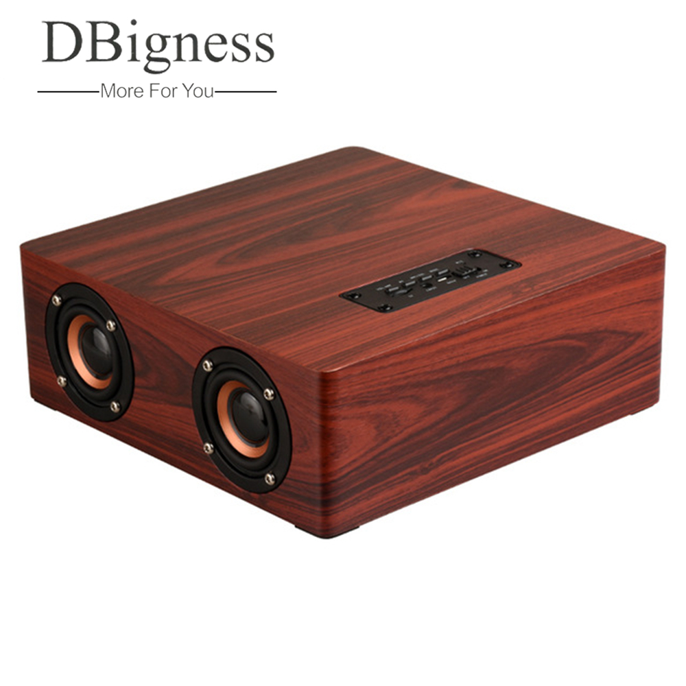 цена Dbigness Soundbar Wireless Bluetooth Speaker Stereo Sound System Support TF Card Aux Soundbar Home Theater TV PC Computer speake