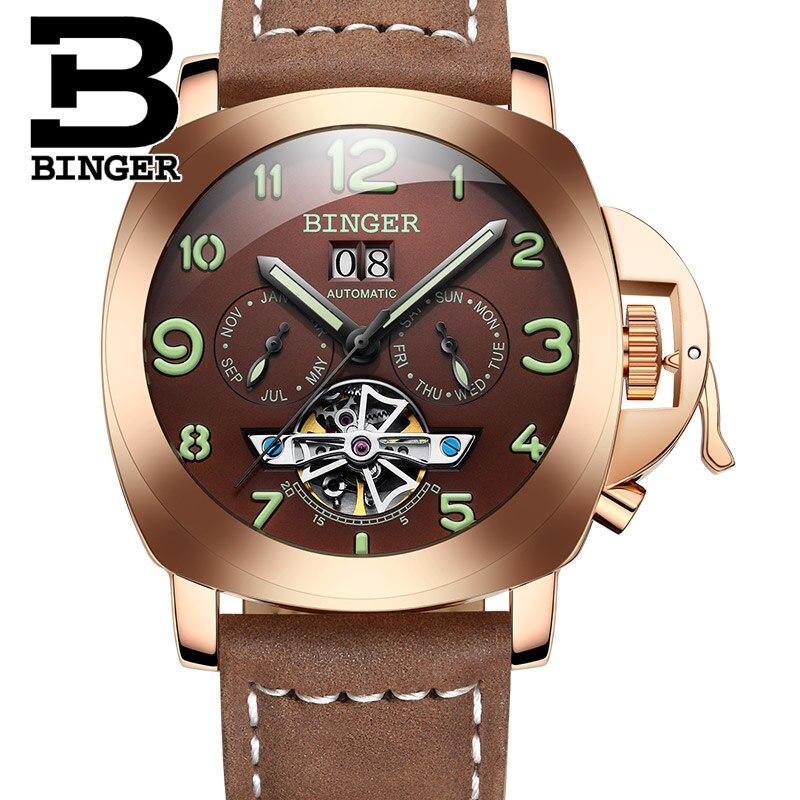 Ελβετικό πολυτελές ρολόι ανδρών BINGER - Ανδρικά ρολόγια - Φωτογραφία 4