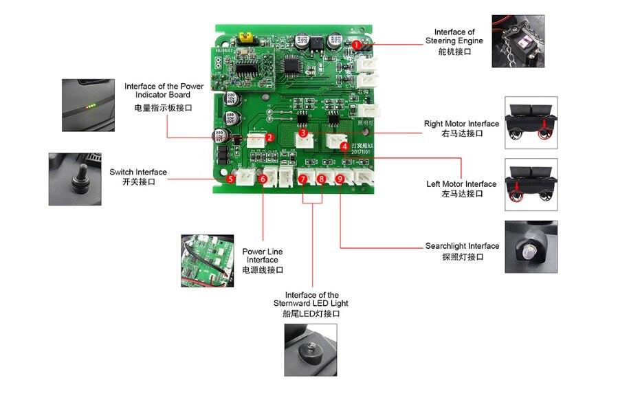 Flytec 5 génération RC bateau coque circuit imprimé pour à distance double entrepôt détecteur de poisson électrique appâts de pêche Double moteur pièces