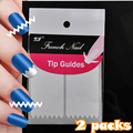1lot= 2 Sheets Manicure Tool Nail Art Tips Form Fringe Guides Sticker DIY French Nail Water Wave Sawtooth Shape Paper N16