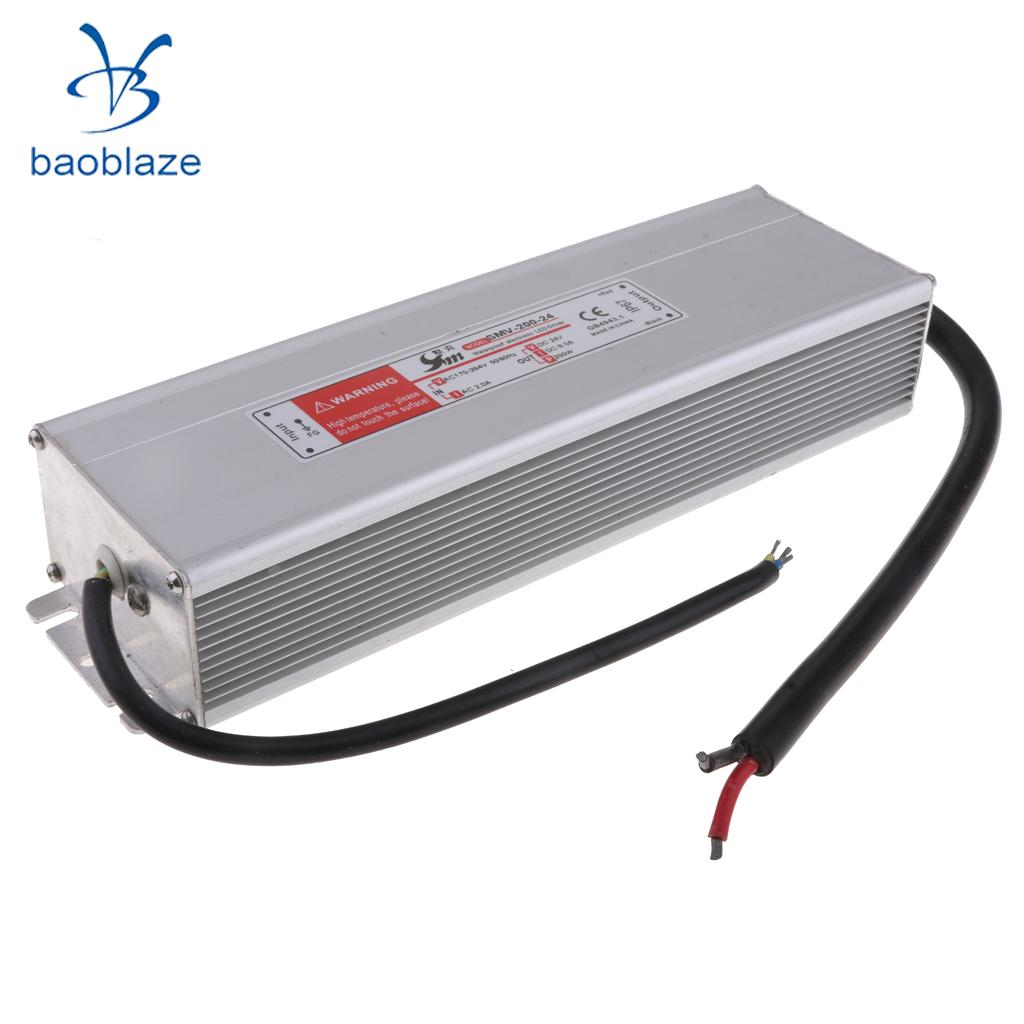 Lighting Transformer DC 24V 8A 200W LED Driver Switch Power Supply Adapter for LED Strip led driver transformer waterproof switching power supply adapter ac170 260v to dc48v 200w waterproof outdoor ip67 led strip