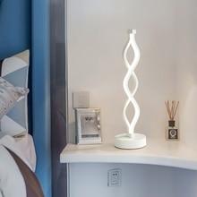 Modern 18W LED table lamp eye protection bedroom study Bedside Lamp minimalist acrylic aluminum table lamp US/EU Plug