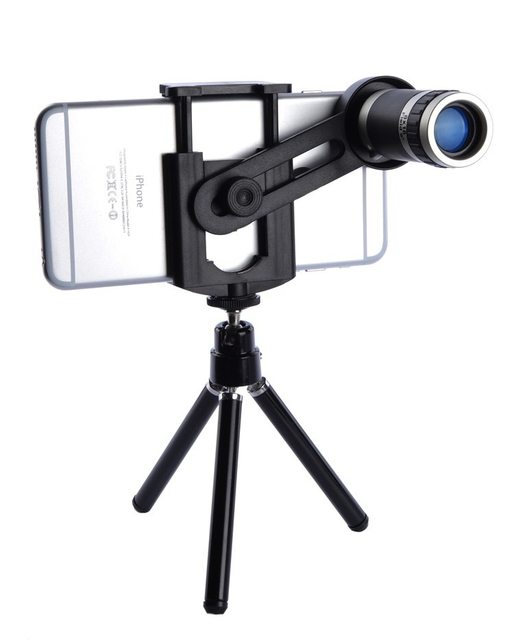 Universal Clips Phone Camera Lentes Kit 8X Zoom Telephoto Lens Telescope Mobile...