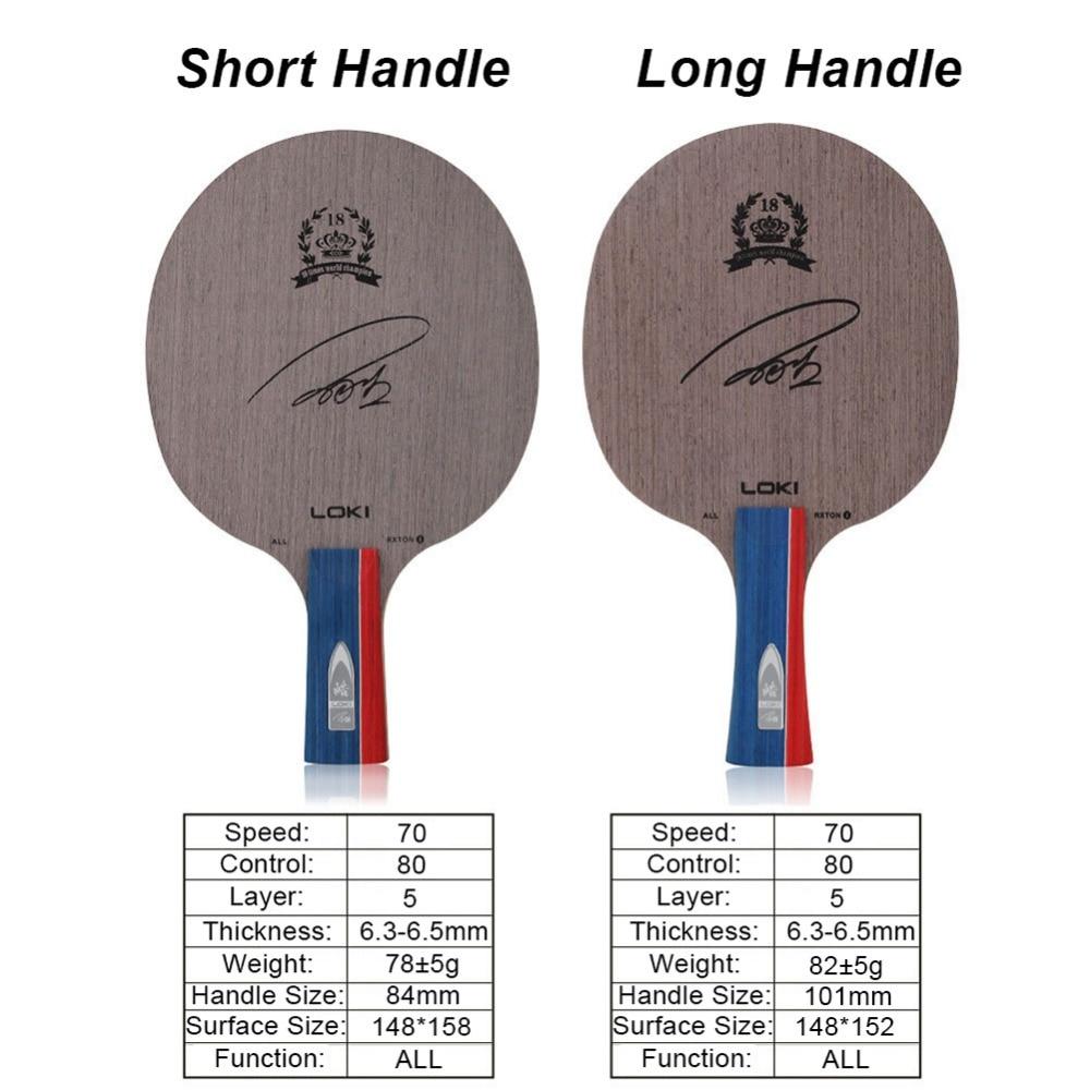 2019 Loki Rxton 1 Pure Wood Table Tennis Blade 5 Layers Pingpong