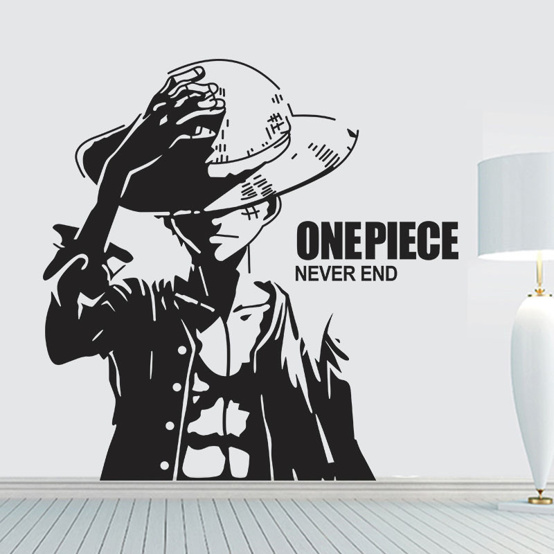 Us 1105 21 Offnew Arrival Free Shipping One Piece Luffy Cartoon Wall Stickers Vinyl Wall Art Wallpaper Home Decoration Mural Wall Stickers In Wall