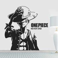 Nouveauté livraison gratuite une pièce autocollants muraux dessin animé Luffy vinyle art mural papier peint décoration murale stickers muraux
