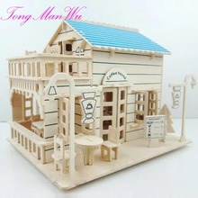 1 Set 3 D Dly 14 Year Old  Model Toy  Girl Adult  Assembling Model Small House For Children Building Toys
