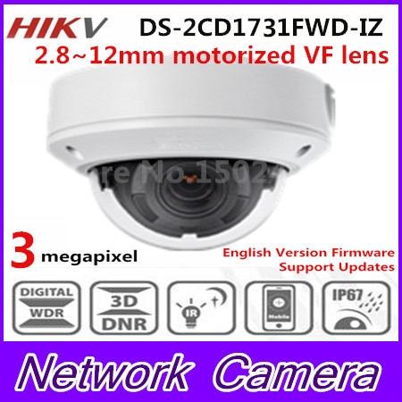 Free shipping In stock New DS-2CD1731FWD-IZ replace DS-2CD2735F-IZS Vari-focal 3MP dome Network IP Camera new in stock ip jw1 cy