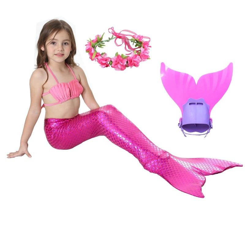 2019 Children Mermaid Tails With Monofin Kids Girls Costumes Mermaid Tails For Swimming Mermaid Swimsuit Flipper For Kids