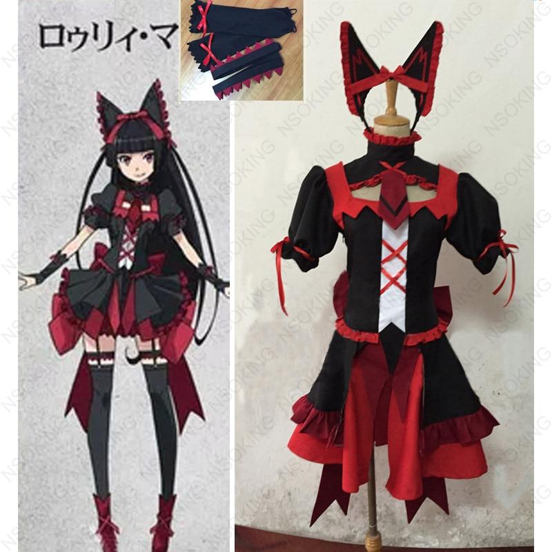 Anime porte Jieitai Kano chi nite, Kaku Tatakaeri Rory Mercury Cosplay Costume
