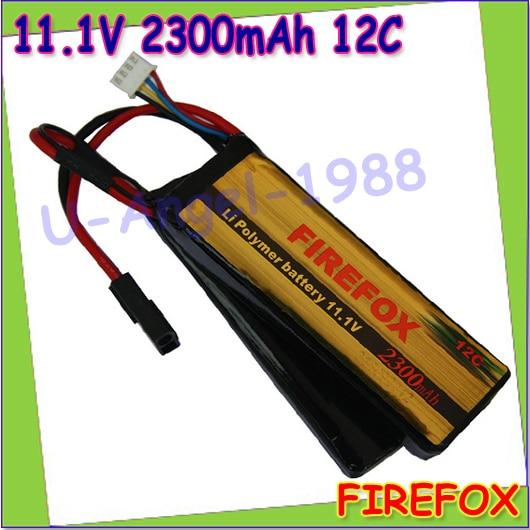 ФОТО wholesale 1pcs 100% Orginal Firefox 11.1V 2300mAh 12C 2 cellLi Polymer battery AEG Airsoft Battery FX1108D F3P23c Drop shipping