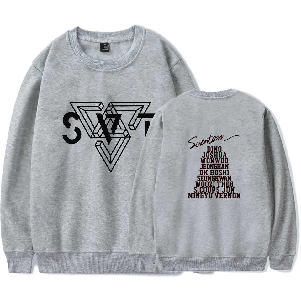 Seventeen17 толстовки хлопковое пальто с длинными рукавами кофты K поп Стиль одеть 17 карат Seventeen; Кей-поп одежда на весну и осень