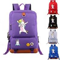 Funny Unicorn Dab Backpack Men Girl Student School Bags Travel Shoulder Bag Unicorn Dabbing Rucksacks